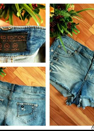 Джинсовые шорты#короткие#с вышивкой
