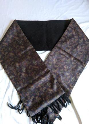 Мужской атласный шарф pierre cardin