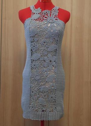 Платье связанное крючком