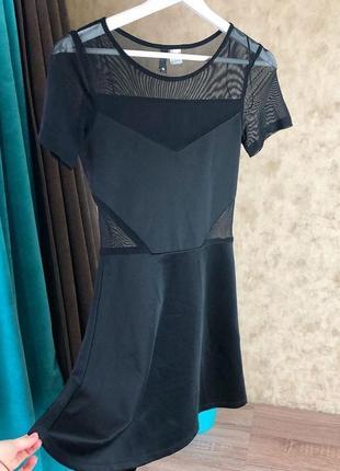 Красивое платье от h&m со вставками из нежной сетки🤗