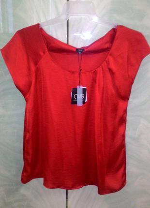 Блузка красная. туника красная, футболка. блуза атласная.
