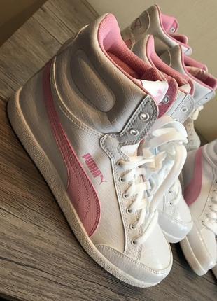 Хайтопы puma , женские кроссовки