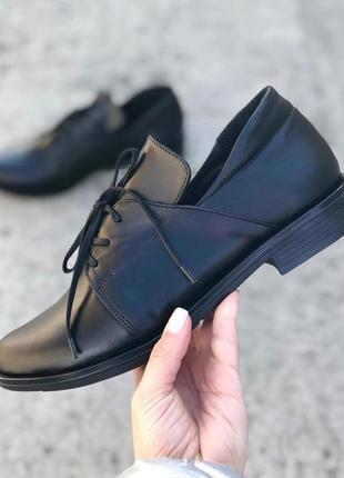 Натуральные кожаные туфли оксфорды с 37-39