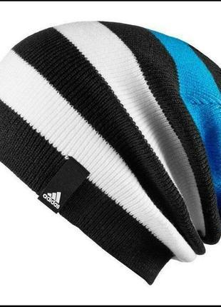 Шапка adidas striped beanie