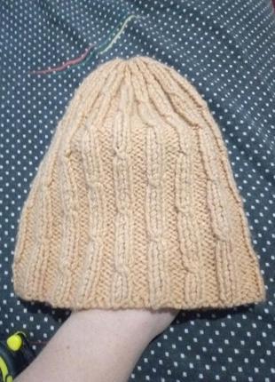 Вязаная шапка 🌺