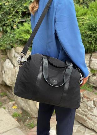 Женская текстильная дорожная сумка vanessa scani в черном цвете