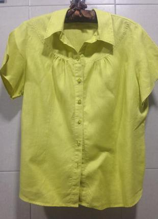 Льняная блуза marks@spencer р .18