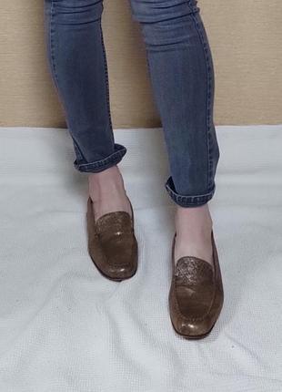 Кожаные туфли лоферы макасины brunate
