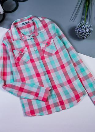 Рубашка девочке на 9-10 лет/140 см.