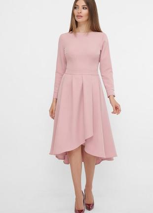 Красивое платье миди с креп-дайвинга лилового цвета ♡