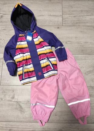 Комплект дождевик куртка и штаны грязепруф 86/92