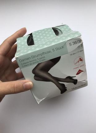 Женские капронки 20 den, 5 пар в коробочке, цвет черный