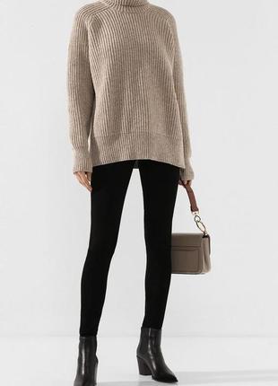 Матовые леггинсы на пуговицах высокая талия посадка черные лосины женские брюки штаны
