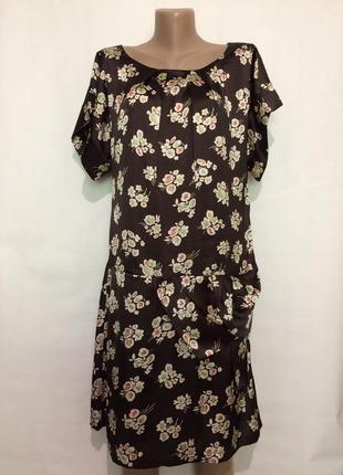 Атласное лёгкое платье!!(индия)