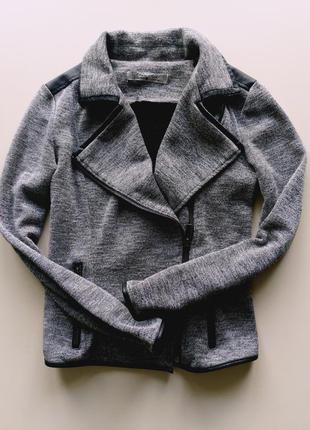 Шикарный жакет/пиджак с кожаными вставками cache cache