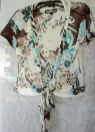 Суперлегкая и супермодная блузка с бантом-поясом. you must have it!