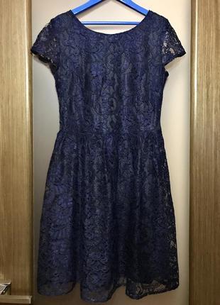 Кружевное коктейльное/вечернее платье