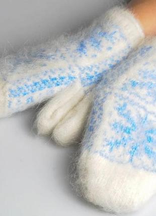 Шерстяные рукавицы ручной работы