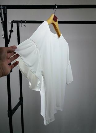 Футболка блуза айвори шырокая оверсайз