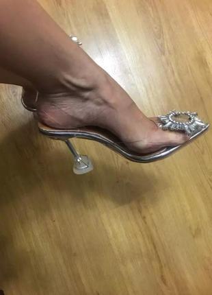 Туфли босоножки силикон amina muaddi3 фото