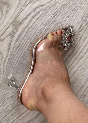 Туфли босоножки силикон amina muaddi4 фото