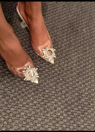 Туфли босоножки силикон amina muaddi6 фото