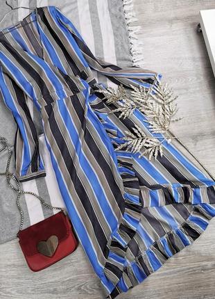 Красивенное платье на запах в полоску 195035 numph размер 40 (m)
