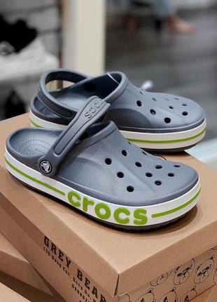 Кроксы crocs bayaband charcoal 🧑🏿🎤