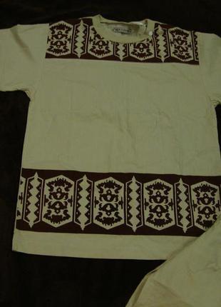 Котоновая футболка, костюм в индийском стиле  smith & brooks