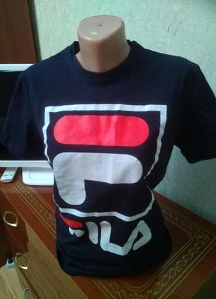 Стильная брендовая натуральная футболка fila, размер m-xl