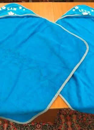 Детское полотенце с капюшоном 70х70