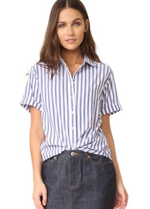 Актуальная лёгкая рубашка в полоску с коротким рукавом