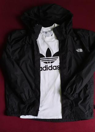 Вітровка the north face hy vent + футболка adidas big logo
