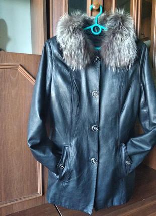 Куртка кожаная демисезон-зима