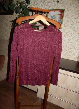 Вязаный джемпер свитер кофта размер м