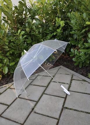 Прозрачный зонт зонтик 8 спиц