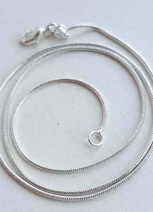 Серебряная цепочка, цепь снейк, змейка, 925 проба, 42 см. код 200/1