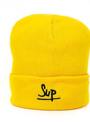 Шапка базовая new wear sup sp1004 желтая