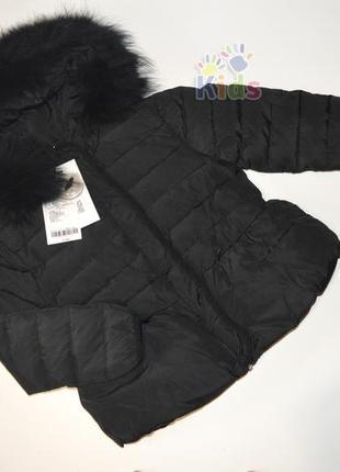 Парка, куртка зимняя из натурального пуха 6-7 лет name it