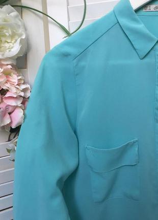 Красивая рубашка dilvin с планкой скрывающей пуговички