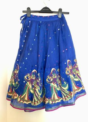 Яркая миди юбка в восточном стиле