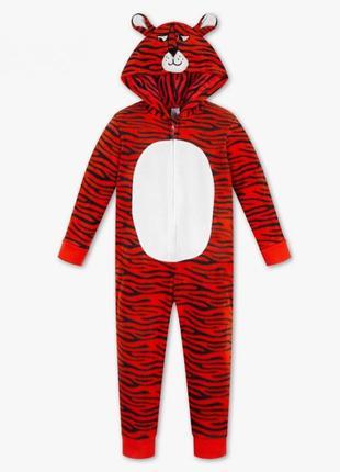 Кигуруми тигр c&a флис, пижама 122-128
