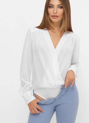 Нарядный офисный боди блуза