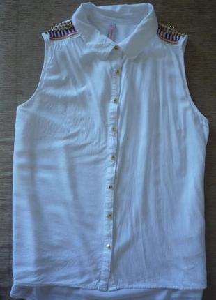 Блуза вискоза 100% с красивыми плечами 46-48
