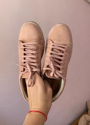 Замшевые кеды , кроссовки