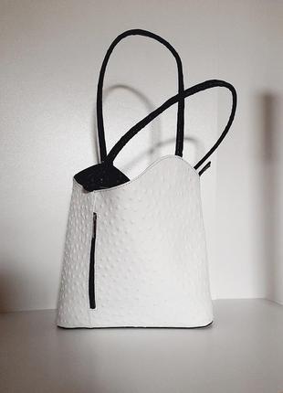 Женская кожаная сумка 31x28 натуральная кожа италия