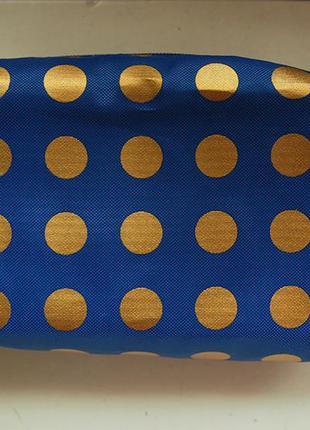 Косметичка estee lаuder синяя в золотой горох