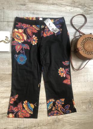 Капри укороченные брюки jhiva яркие модные стильные
