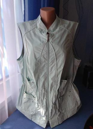 Женская жилетка на молнии, р.xl