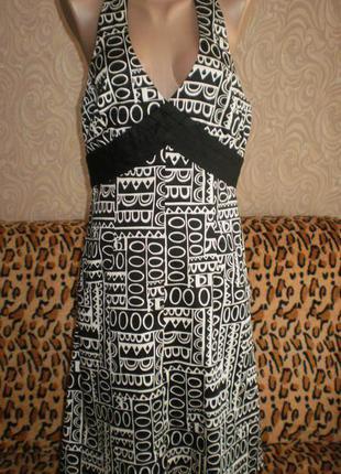 Хлопковый сарафан, платье jones new york, c- м, смотрим замеры.
